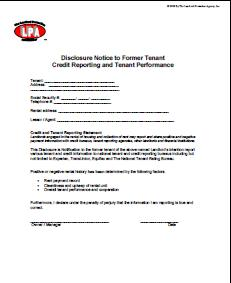 Credit reporting disclosure notice to tenant lease addendum essential landlord rental forms ordering page yadclub
