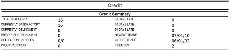 Quick Check Credit Reports Section2
