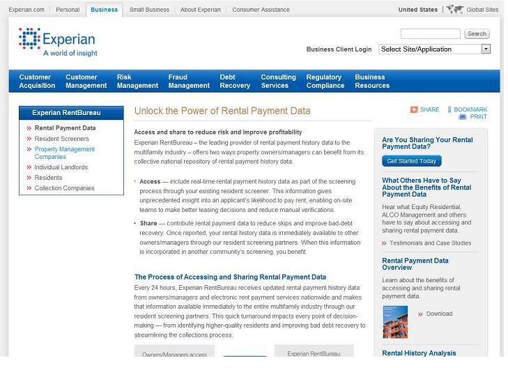 Rental history on credit report