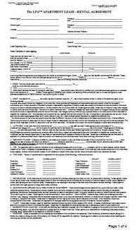 Landlord Apartment Lease Rental Agreement At Essential Rental Forms Page