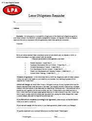 Lease Obligations Reminder to Tenant on reference letter to tenants, sample letters employees, sample invoices, sample contracts, notices to tenants, resignation letter to tenants, writing letters to tenants,