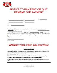 notice to pay rent or quit eviction notice