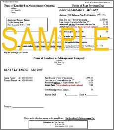 rent statements template
