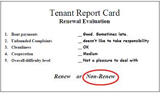 tenant report card evaluation