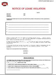 lease violation template
