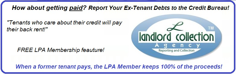 Report Tenants to Credit Bureau, Experian, TransUnion